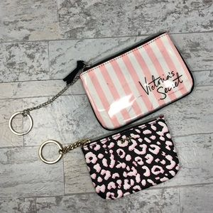 Set of 2 Victoria's Secret Keychain Coin Pouches